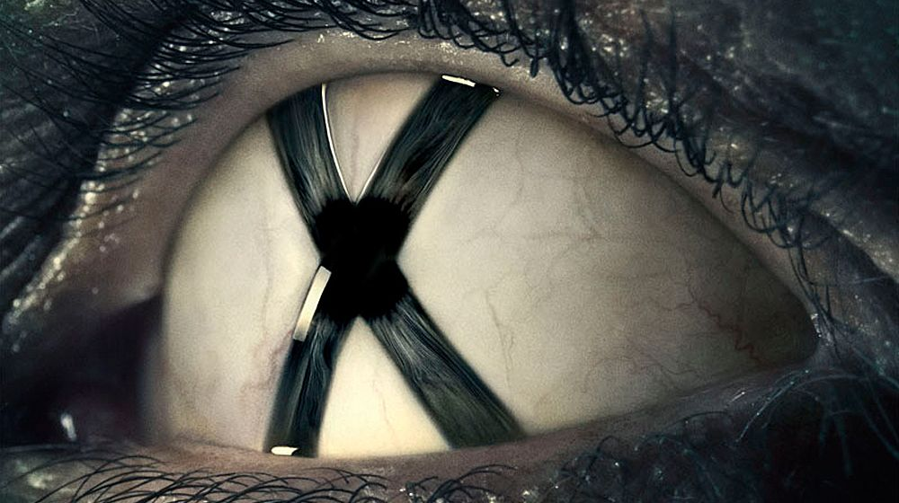 The X-Files eye poster closeup